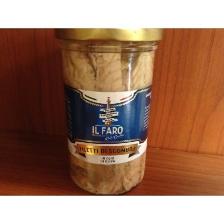 Filetti di sgombro in olio di oliva (lavorato a mano)
