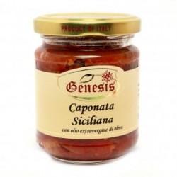 Caponata siciliana con olio extravergine di oliva